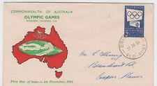 Stamp Australia 2/- Olympic Games issue Standard Stamp Co swimmer cachet FDC