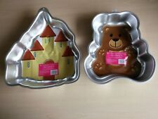 Princess Fairytale Castle Teddy Bear Kids Birthday Party Cake Baking Tin Mould