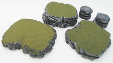 Warhammer 40k Tabletop War Gaming Terrain Scenery Grey Stone Plateau& Rocks SetG