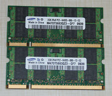 Samsung 4GB (2X2GB) PC2 6400 DDR2 800 SODIMM LAPTOP MEMORY