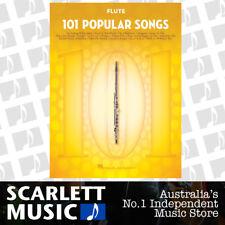 101 Popular Songs for Flute - Paperback Book *NEW* Hal Leonard