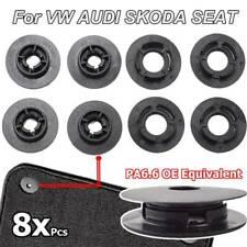 8X CAR MAT CARPET CLIPS FIXING GRIPS CLAMPS FLOOR HOLDERS FOR VW AUDI SKODA SEAT