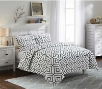 Fantabulous 100% Egyptian Cotton 2D Shapes Printed Duvet Cover Set/Quilt Set