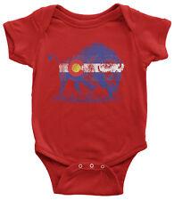 Buffalo Colorado Flag Infant Bodysuit Denver State Animal Pride