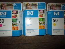 3 New Genuine HP 51650C 51650Y 51650M Fit DesignJet 250C 650C