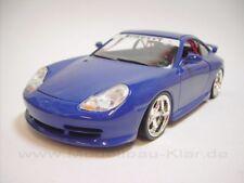 BBurago Porsche 911 (996) GT3 blau + 02-1 (umgebautes Modell) 1:18