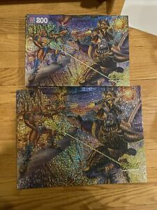 """RARE Transformers Beast Wars Puzzle MB 200 Pieces 12 1/8"""" x 16"""" COMPLETE"""