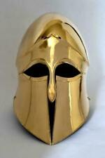16GA Steel & Brass Coated Medieval Greek Corinthian Helmet Museum Helmet Replica