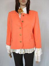 Womens Retro Vtg Peach Casual Tailored Elegant Crop Jacket Blazer sz 10 12 AM50