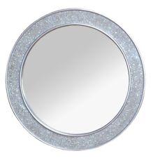 Wandspiegel Wanddeko Deko Spiegel Edel Design Rund Farbe: Antik-Silber