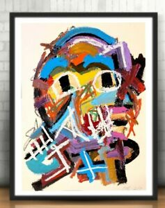 NEO EXPRESSIONISM ABSTRACT ART ASTRONAUT SPACE CONTEMPORARY ORIGINAL PAINTING NR
