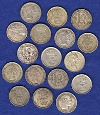 More details for denmark, 17x mostly silver 10 ore coins, 1874-1922 (ref. t3611)