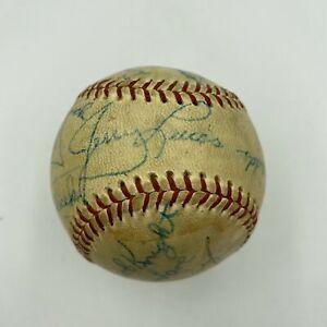 1961 Ohio State Buckeyes Champs Signed Baseball Bob Knight John Havlicek JSA
