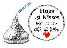 216 HUGS AND KISSES WEDDING FAVORS HERSHEY KISSES KISS LABELS