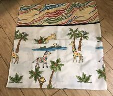 Safari Animals Shower Curtain 12 Hooks Mainstays Elephant Tiger Hippo