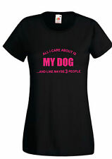 Unbranded Dogs Hip Length Short Sleeve T-Shirts for Women