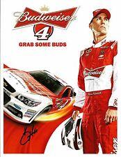 2014 Kevin Harvick BUDWEISER NASCAR RACING Signed Auto 8.5x11 Postcard
