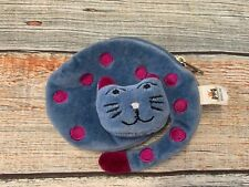 Jelly Cat Blue Polka Dot Cat Coin Purse Wallet