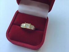 Gorgeous 0.62cts Princess Cut Diamond Ring.  9K Yellow Gold COA #A SALE!!
