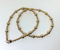 Gold Beaded Bracelet • Beaded Stretch Bracelet • 14K Gold Filled Bracelet (117)