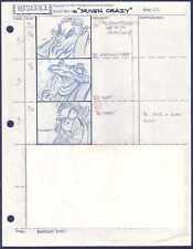 Beetlejuice Original Production Animation Storyboard Nelvana Tim Burton 1990 23
