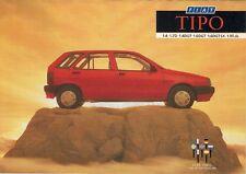 Fiat Tipo 1989 UK Market Foldout Sales Brochure 1.4 1.6 DGT SX 1.7D 1.9 T.dS