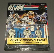 Vintage GI Joe 1998 Arctic Mission Team 3 Pack Iceberg Snow Job Blizzard MOC NEW