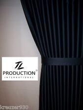 LKW Scheibengardinen passend für IVECO STRALIS AS schwarz + Gardinenhaken