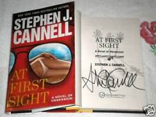 AT FIRST SIGHT by STEPHEN J. CANNELL **SIGNED**