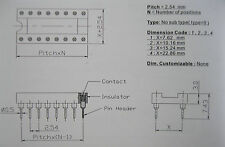 30 pcs IC Socket Adapter Round 16 Pin headers & (IC)Sockets