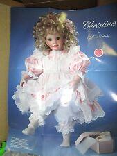 "Hamilton porcelain doll ""Christina"" *NRFB *COA *artist Laura Cobabe"
