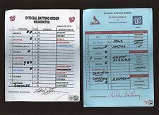 Washington Nationals Game Used Baseball Lineup Card Bryce Harper HR#15 MLB HOLO