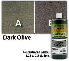 Professional Easy to Apply Water Based Concrete Stain - Dark Olive