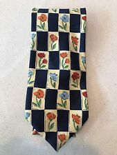 HARDY AMIES - 100% Silk Tie - Floral Pattern - Made in Italy