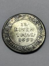 1693 German States Saxony Silver 1/12th Thaler #9299