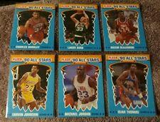 1990 FLEER BASKETBALL ALL- STARS COMPLETE 12 CARD STICKER SET REAL NICE SET!
