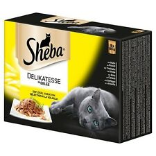 Sheba Multipack Delicato Geleevariation 8 x 85 g - 6 Stück, UVP 23,94 EUR, NEU