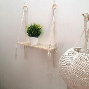 Macrame Plant Hanger Display Basket Bohemian Hand Woven Rope Hanging    NEW