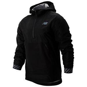New Balance Mens Q Speed Waterproof Lightweight Running Jacket NB Half Zip Top