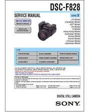 SONY CYBER-SHOT DSC-F828 SERVICE & REPAIR MANUAL + ADJUSTMENTS
