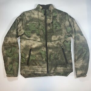Browning Hell's Canyon Speed Backcountry Jacket Primaloft Green Camo Men's Small