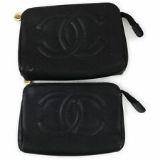 Chanel Leather Cosmetic Pouch 2 pieces set 517028