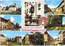 AK, Schöningen am Elm, acht Abb. und Wappen, 1965