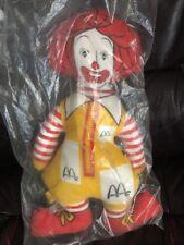 "VINTAGE 13""  Ronald  McDonald  STUFFED TOY DOLL McDONALD'S NEW IN BAG"