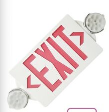 Led Exit Sign Emergency Lighthi Output Redgreen Compact Combo Ul Listed