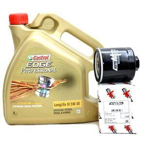 Castrol Edge Professional 5W30 Motoröl 5W-30 LongLife III LL3 ACEA C3 + Ölfilter