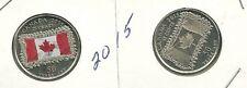 2015  Canada Colored 25 Cent  MS & Non Colored