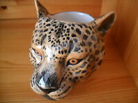 Unusual Leopard  Ceramic Egg Cup By Quail Pottery New And Boxed ideal gift