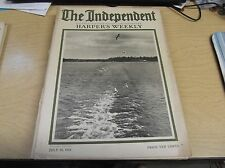 VINTAGE MAGAZINE 7/24/1916 THE INDEPENDENT HARPER'S WEEKLY AD'S,GREAT INFO