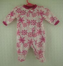 Doll Clothes Holiday Time Snowflake Print Velour Sleeper Newborn Infant Outfit